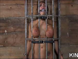 Бритая киска в рабстве