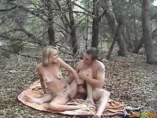 Блондинка Открытый Creampie
