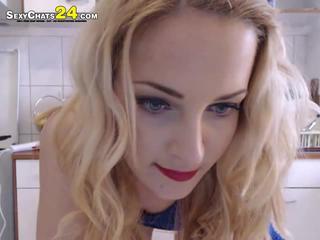 волшебный блондинка Лайла в большой прикладом делать